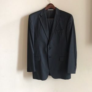 Burberry 100% wool bond street suit 42L gray suit